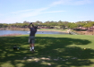 David off the tee. 15th hole, Qunto do Lago South, Portugal.